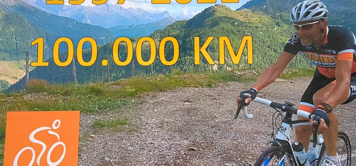 Kees Lindhoud passeert magische grens van 100.000 club kilometers